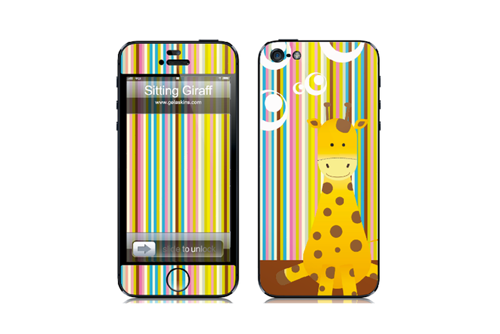 Sitting Giraffe - iPhone Art Skin Kit