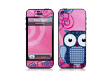 Pink Owl - iPhone Art Skin Kit