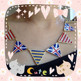 Swarovski Crystals Embellished UK Flag Cute Necklace