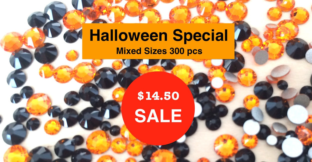 Mixed Sizes Halloween Colors - Superpack (300pcs)