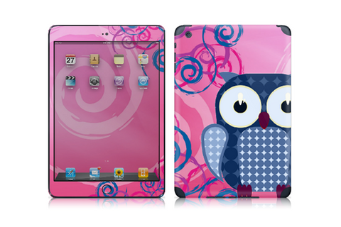Pink Owl - iPad mini Art Skin Kit