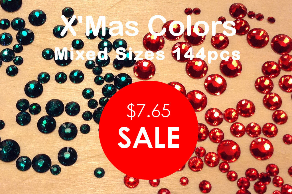 Mixed Sizes Christmas Colors - Large (144pcs)