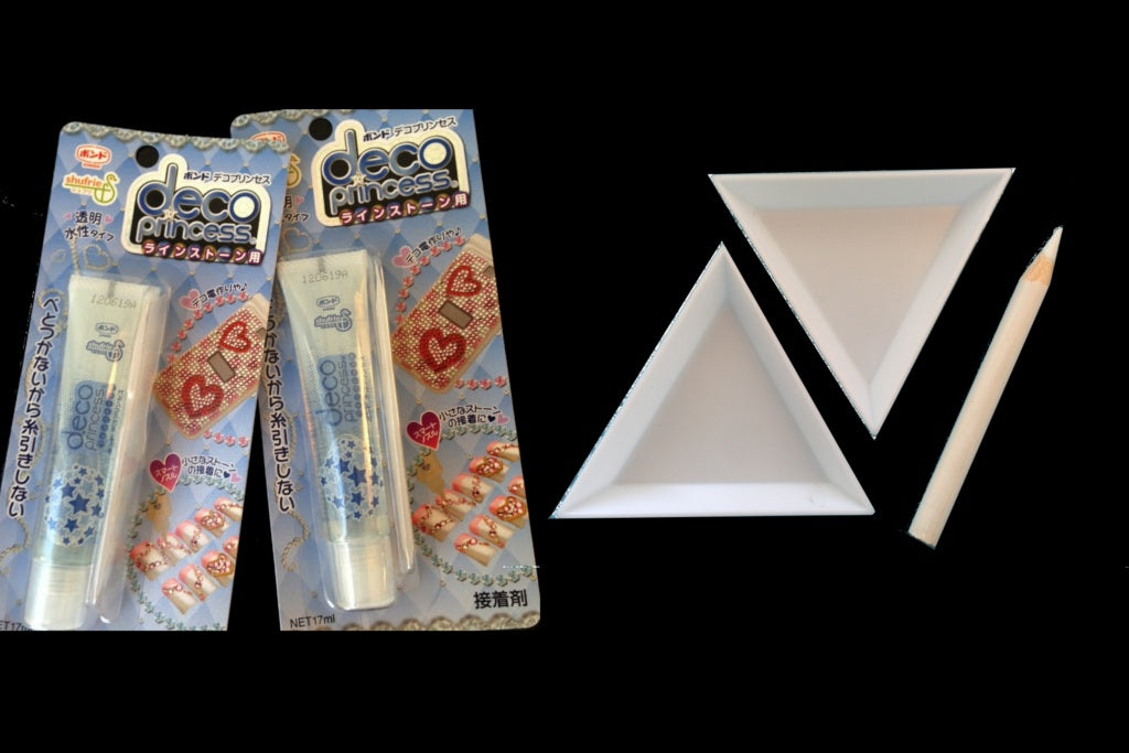 [Twin Pack Combo] Deco Princess Glue - Excellent Adhesive for Crystals, Charms & Cabochons + DIY Set