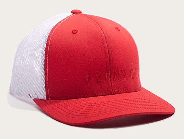 Fernwood Cap - Red & White Mesh