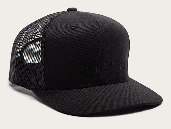 Fernwood Cap - Black on Black Mesh