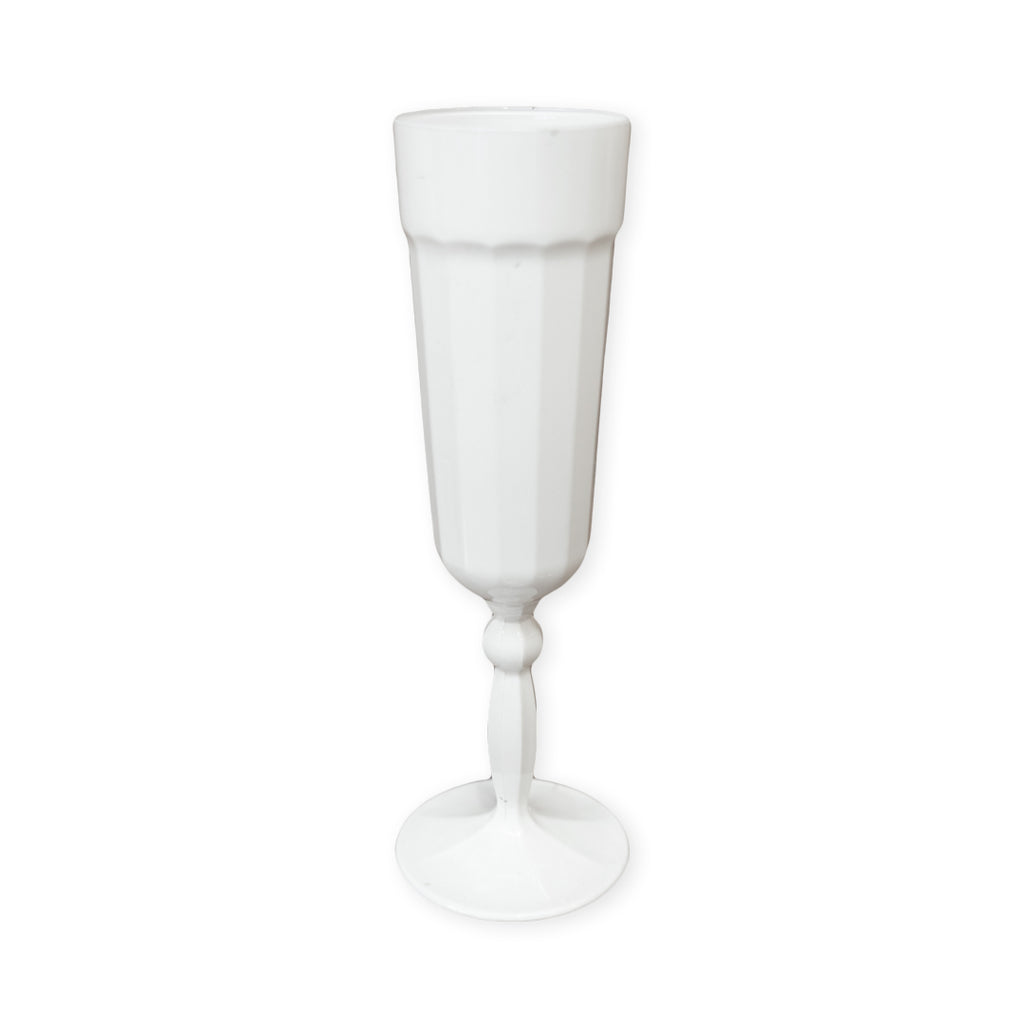 Tall White Glass 1