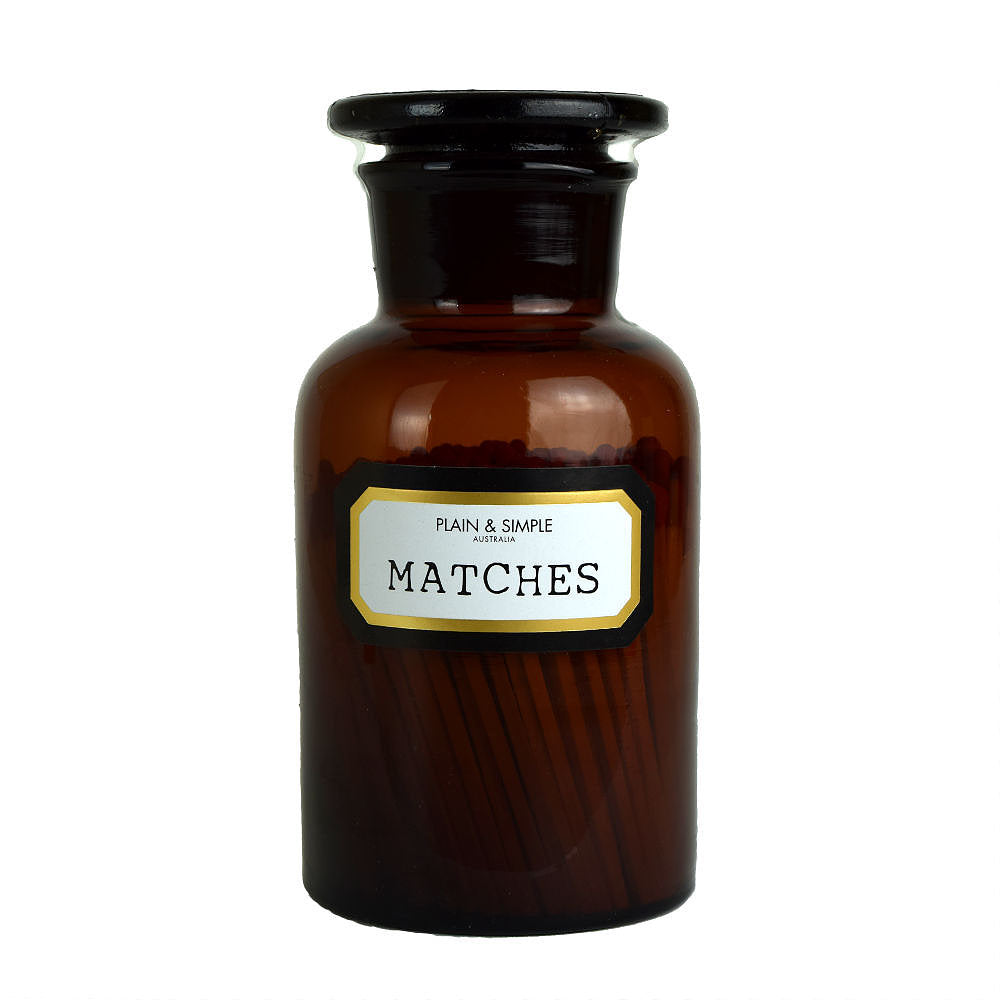 Apothecary Matches Amber