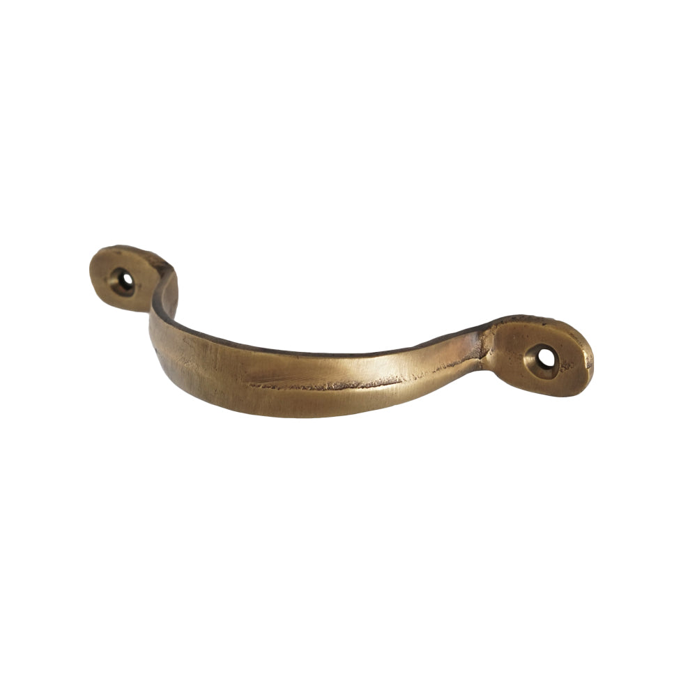 Tricorn Drawer Pull Antiqued Brass