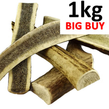 Load image into Gallery viewer, 1kg Mixed Split Deer Antler Dog Chew Pieces - Ace Antlers