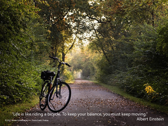 Life is Like Riding a Bicycle POSTER (downloadable PDF)