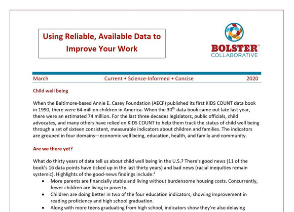 Practice Brief: Using Reliable, Available Data to Improve Your Work (downloadable PDF))