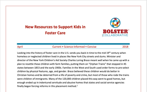 Practice Brief: New Resources to Support Kids in Foster Care (downloadable PDF)