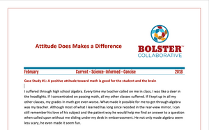 Practice Brief: Attitude Does Makes a Difference (downloadable PDF)