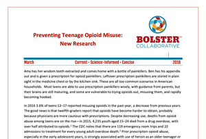 Practice Brief: Preventing Teenage Opioid Misuse: New Research (downloadable PDF)