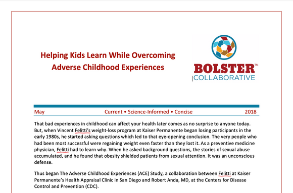 Practice Brief: Helping Kids Learn While Overcoming Adverse Childhood Experiences (downloadable PDF)