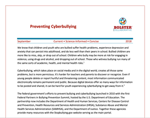 Practice Brief: Preventing Cyberbullying (downloadable PDF)