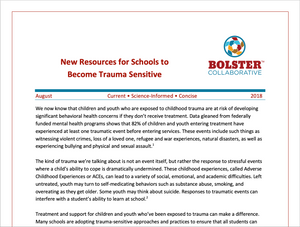 Practice Brief: New Resources for Schools to Become Trauma Sensitive (downloadable PDF)