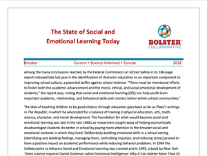 Practice Brief: The State of Social and Emotional Learning Today (downloadable PDF)