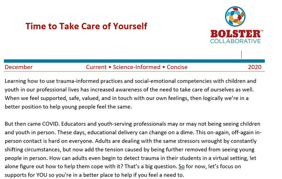Practice Brief -Take Care of Yourself (downloadable pdf.)