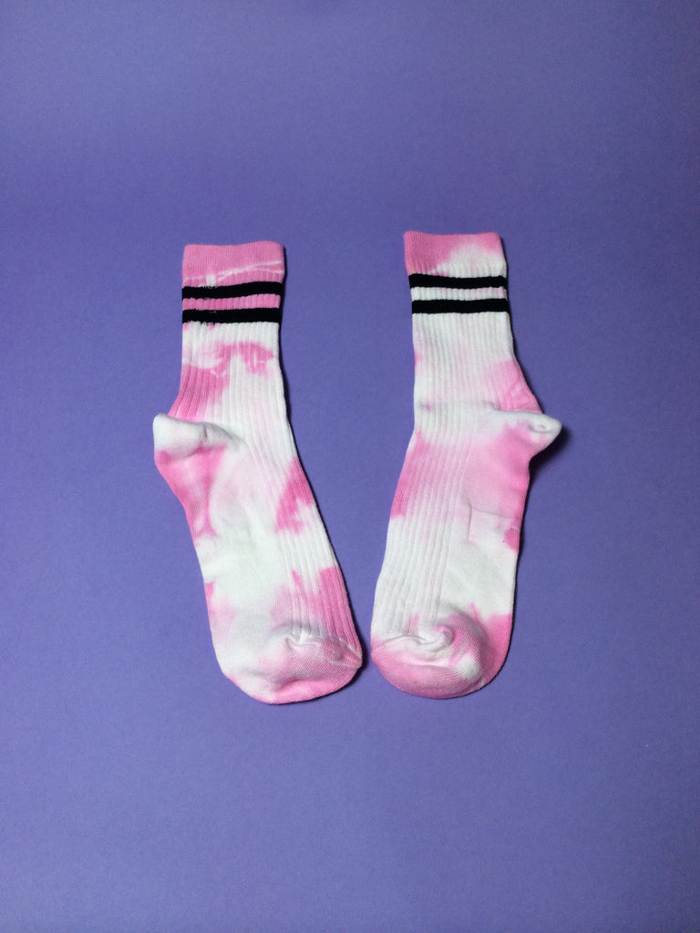 KO Raspberry Tie-dyed Stripe