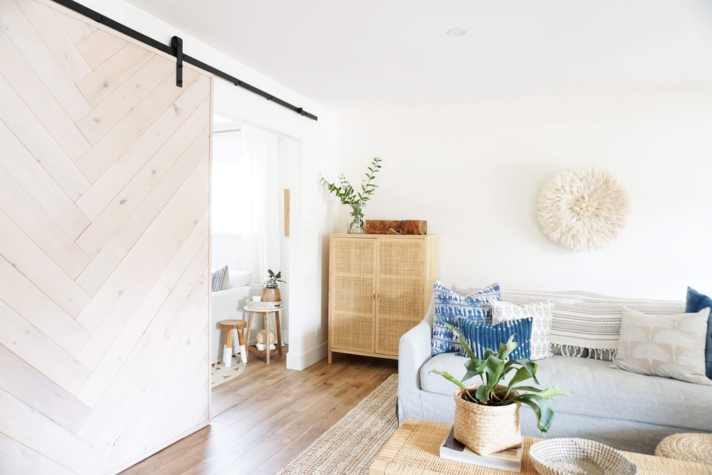 Fir Wood Planks helped this blogger differentiate her spaces