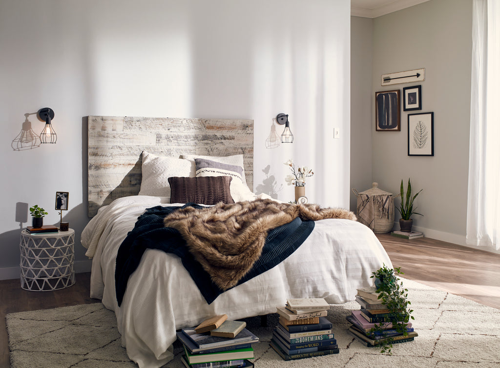 Stikits Weathered Gray Rustic Wood Headboards are Perfect In Master Bedrooms