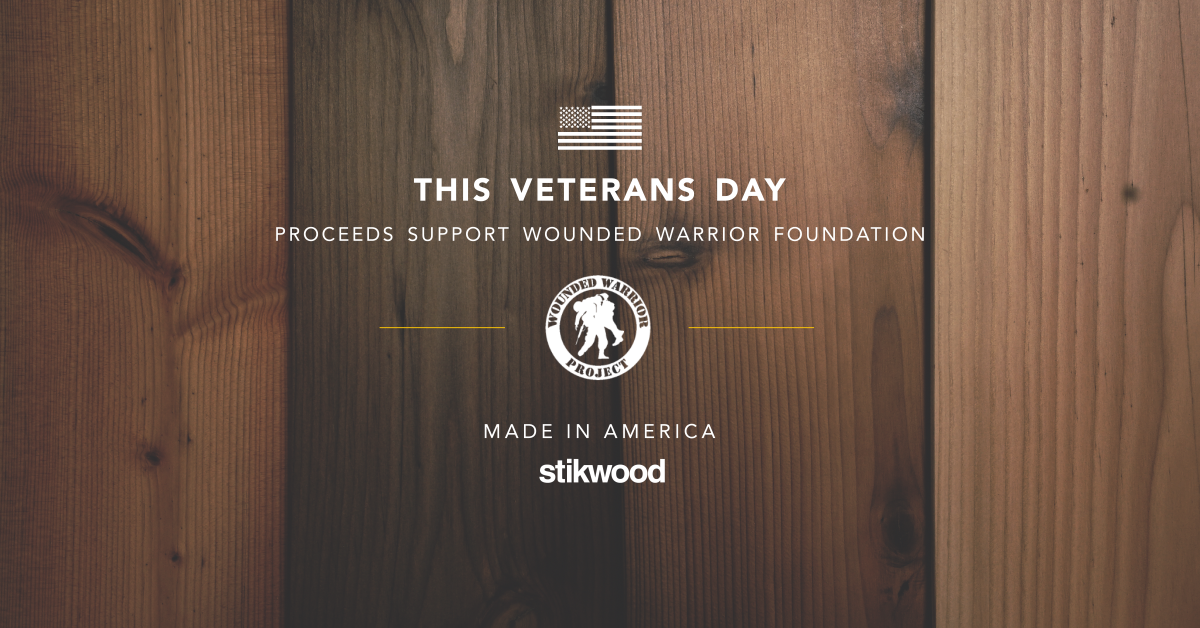Stikwood Veterans Day Sale to Support Wounded Warrior Project