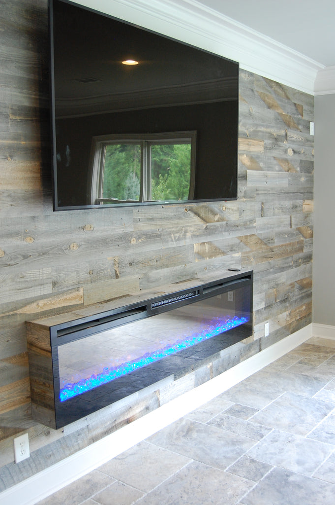 5 Red Hot Ideas For A Wood Plank Fireplace Wall