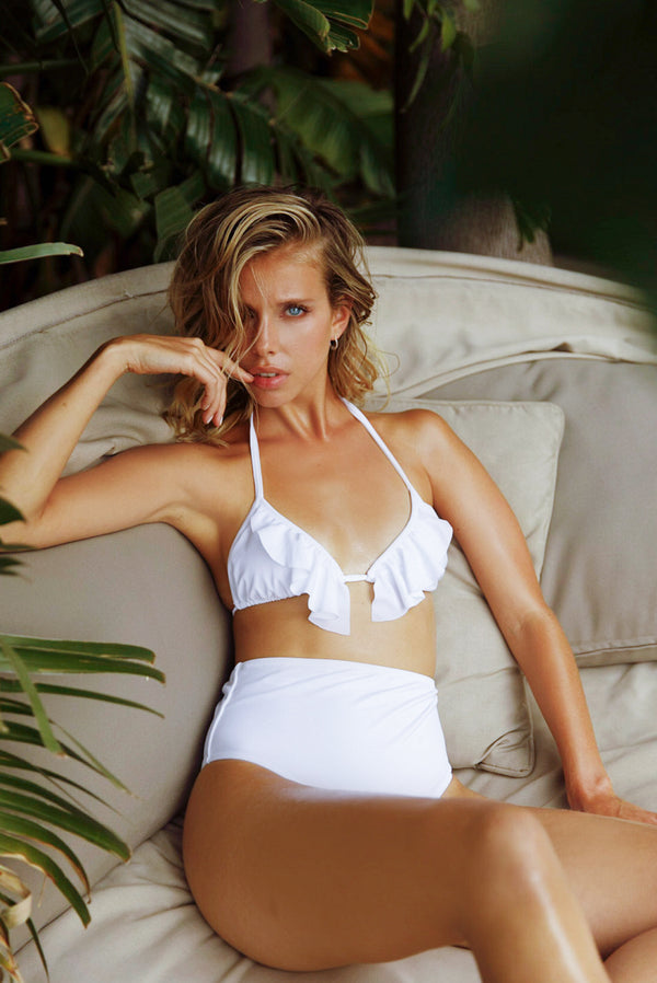 Góra od bikini Bloom White