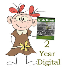 Two Year Digital Subscription To Irish Roots Magazine.  (103-110)