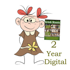 Two Year Digital Subscription To Irish Roots Magazine.  (101-108)