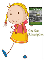 One Year Digital Subscription To Irish Roots Magazine.  (105-108)