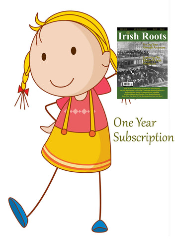 One Year Digital Subscription To Irish Roots Magazine.  (107-110)
