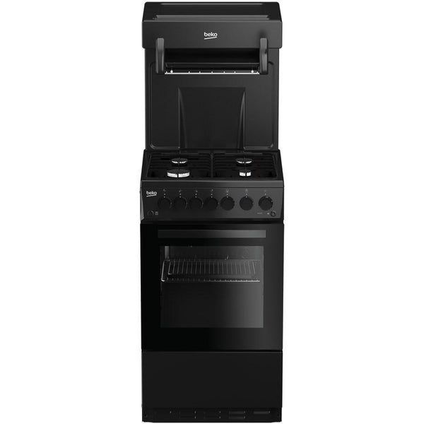 Beko KA52NEK 50cm Gas Cooker with Full Width Gas Grill - Black - A Rated