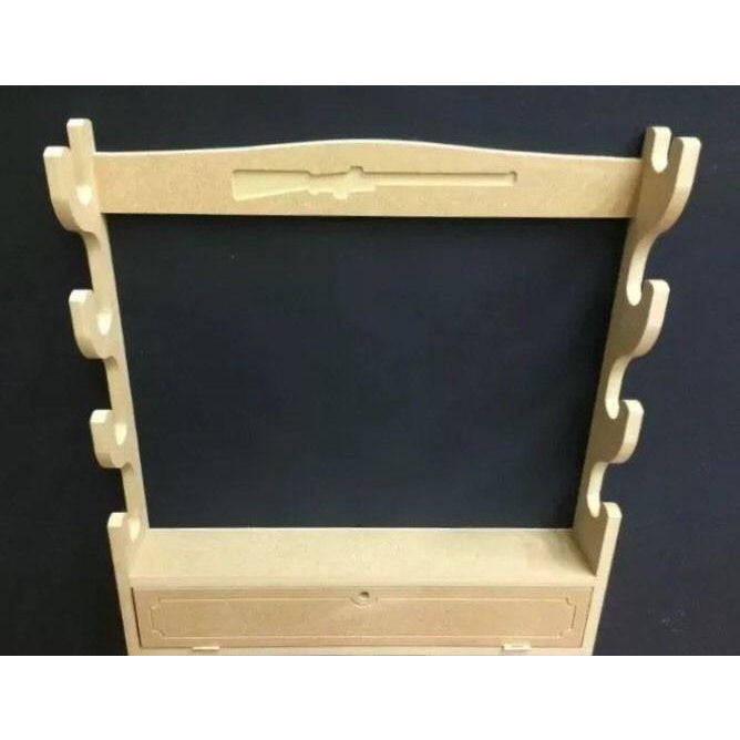 Horizontal 4 Gunrack with Cupboard