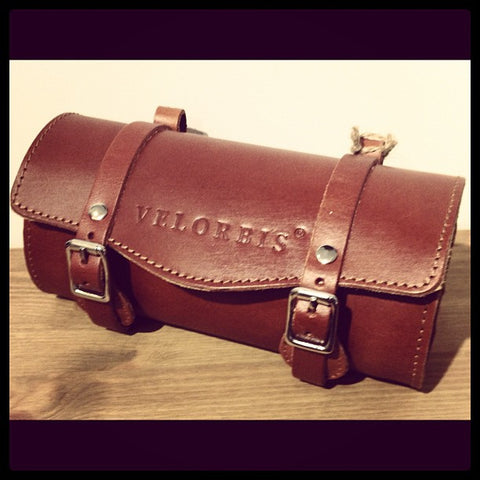 velorbis leather saddle bag