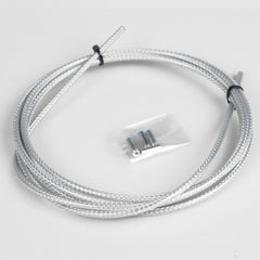 Silver Carbon Braided Outer Brake Cable