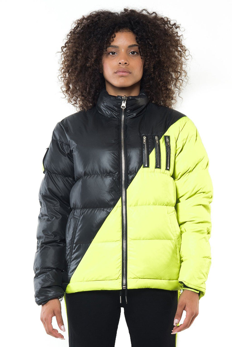 MIDDLE BLACK-NEON YELLOW (F) Femme THE NEW DESIGNERS