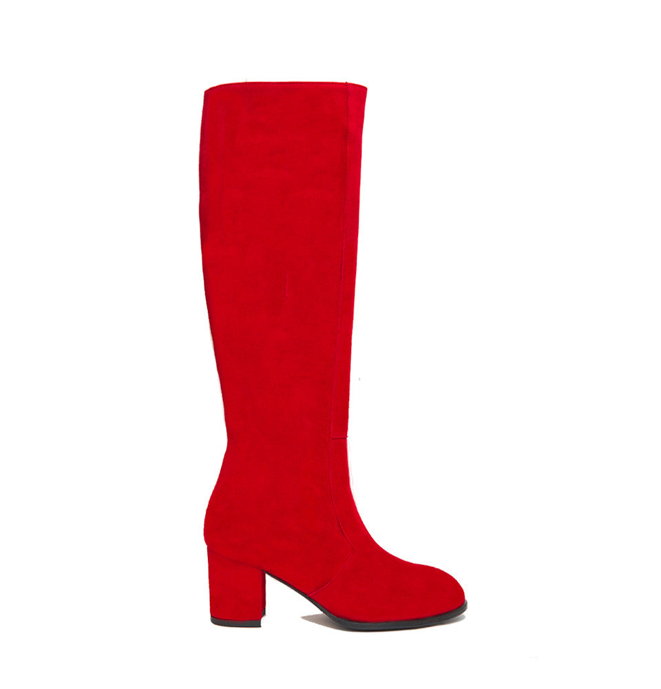 Aluk Knee Boot <b>Red Suede</b>