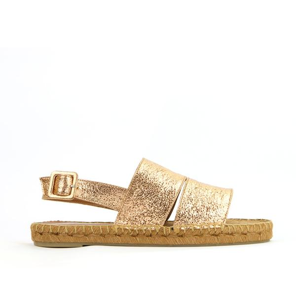 Lara Espadrille in Metallic Rose