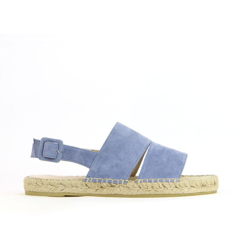 Lara Espadrille in Denim Suede