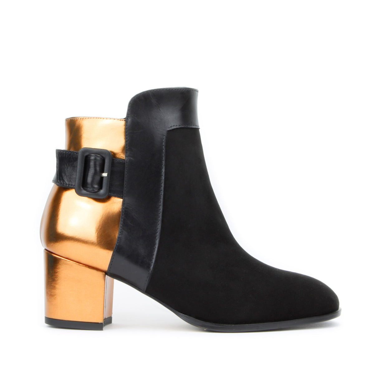 Alex Ankle Boot <b>Black Suede Bronze</b>