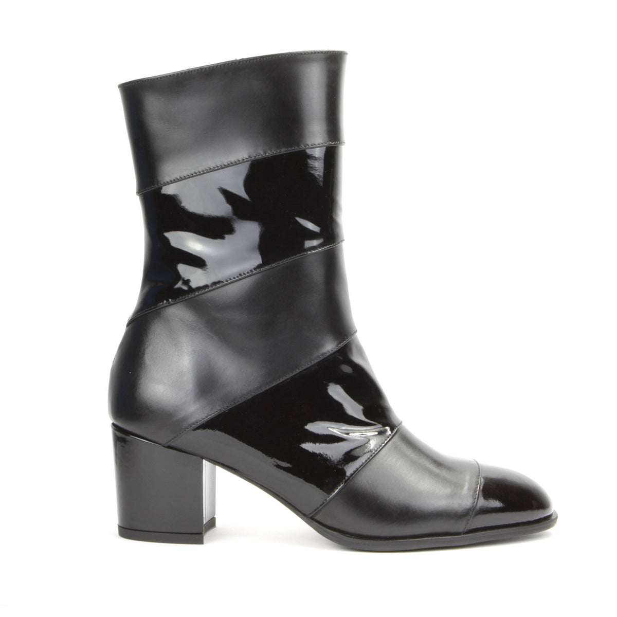 Allegra <b>Black Patent and Black Calf</b>