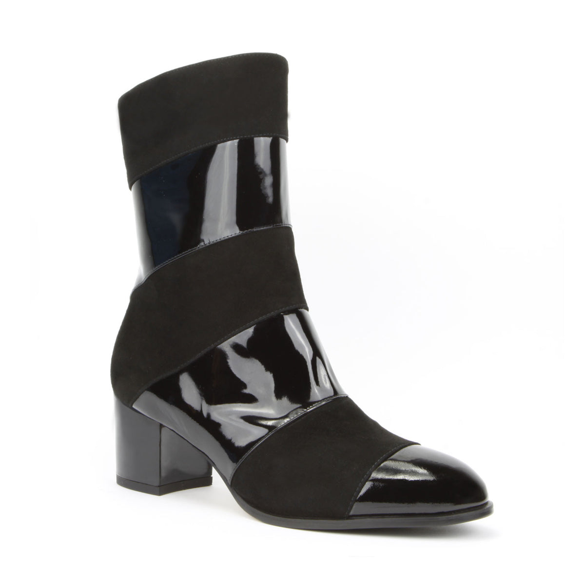 Allegra <b>Black Patent and Black Suede</b>