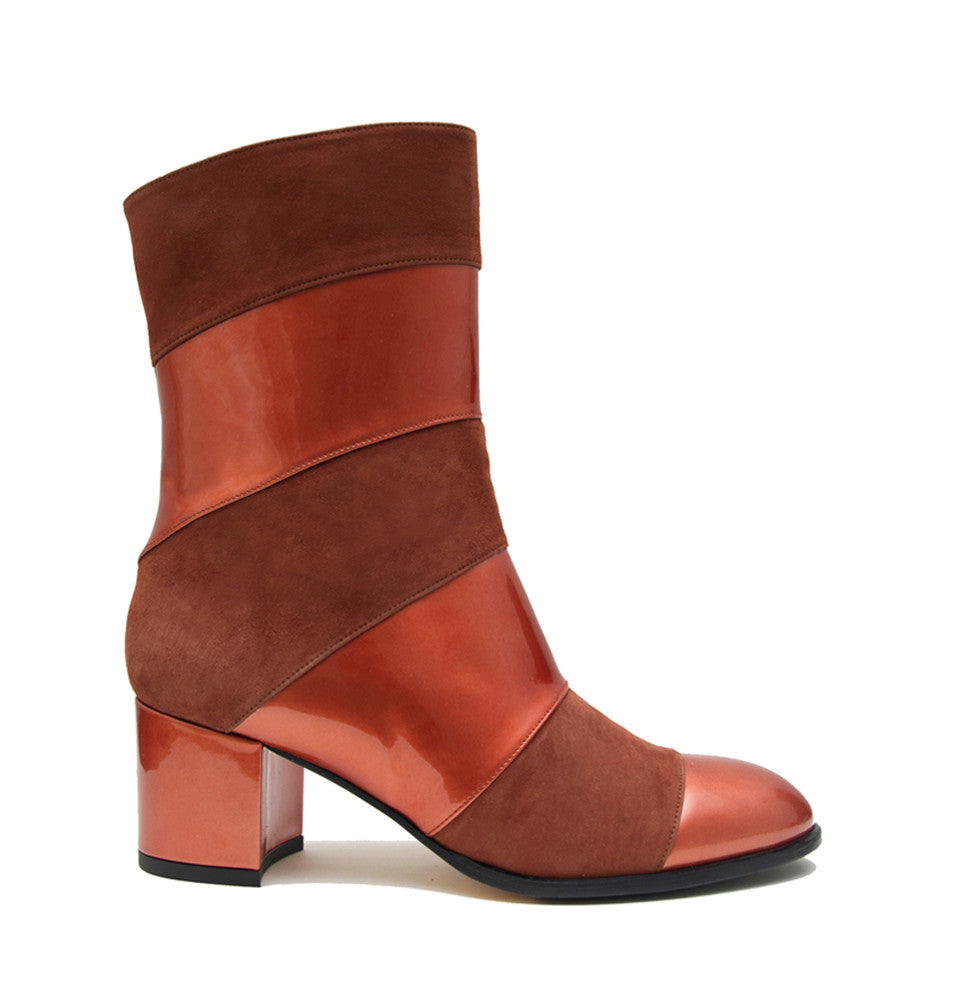 Allegra <b>Patent Sienna and Tobacco Suede</b>