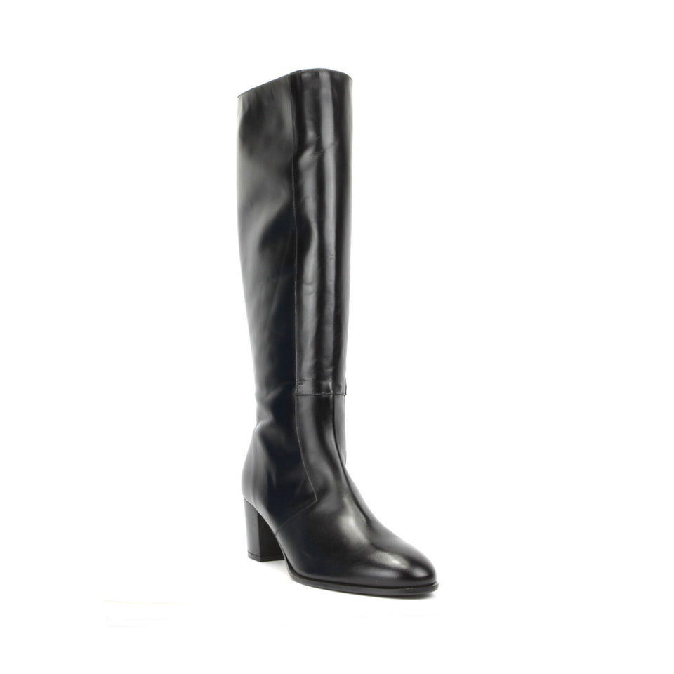 Aluk Knee Boot <b>Black Calf Leather</b>