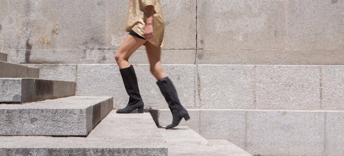 Aluk Knee Boot <b>Carbon Suede</b>