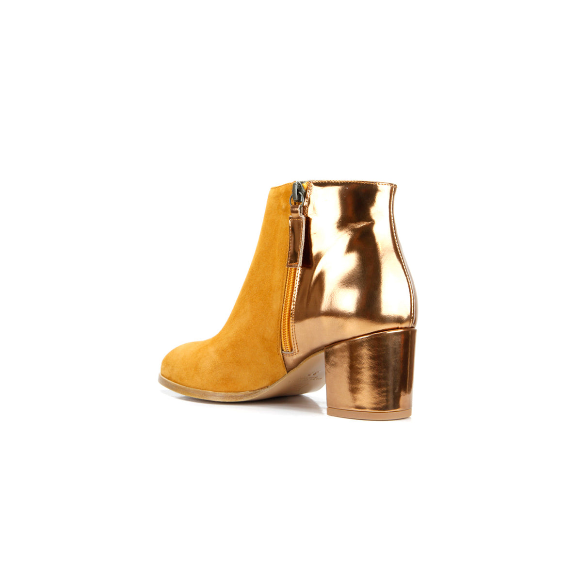 Ana Ankle Boot <b>Rust Suede and Bronze Specchio</b>