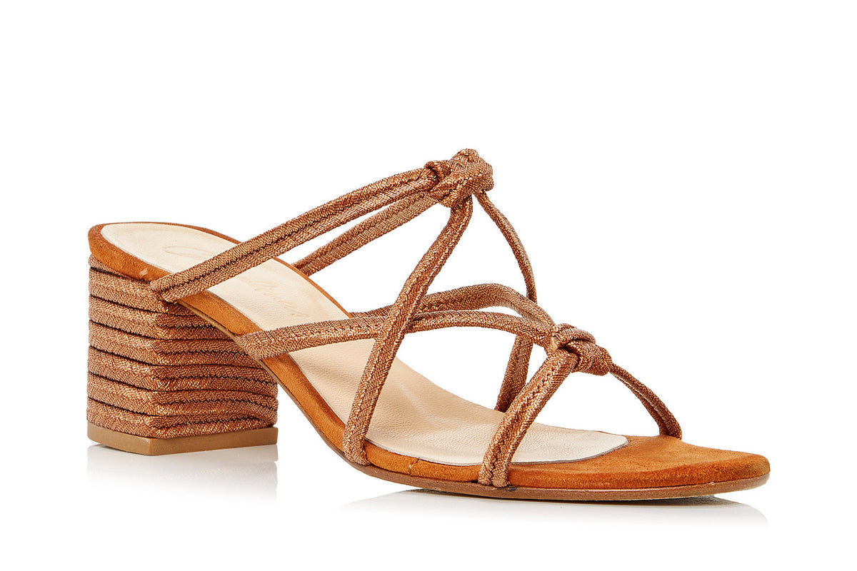 Ibiza Sandal in Metallic Brick Rope