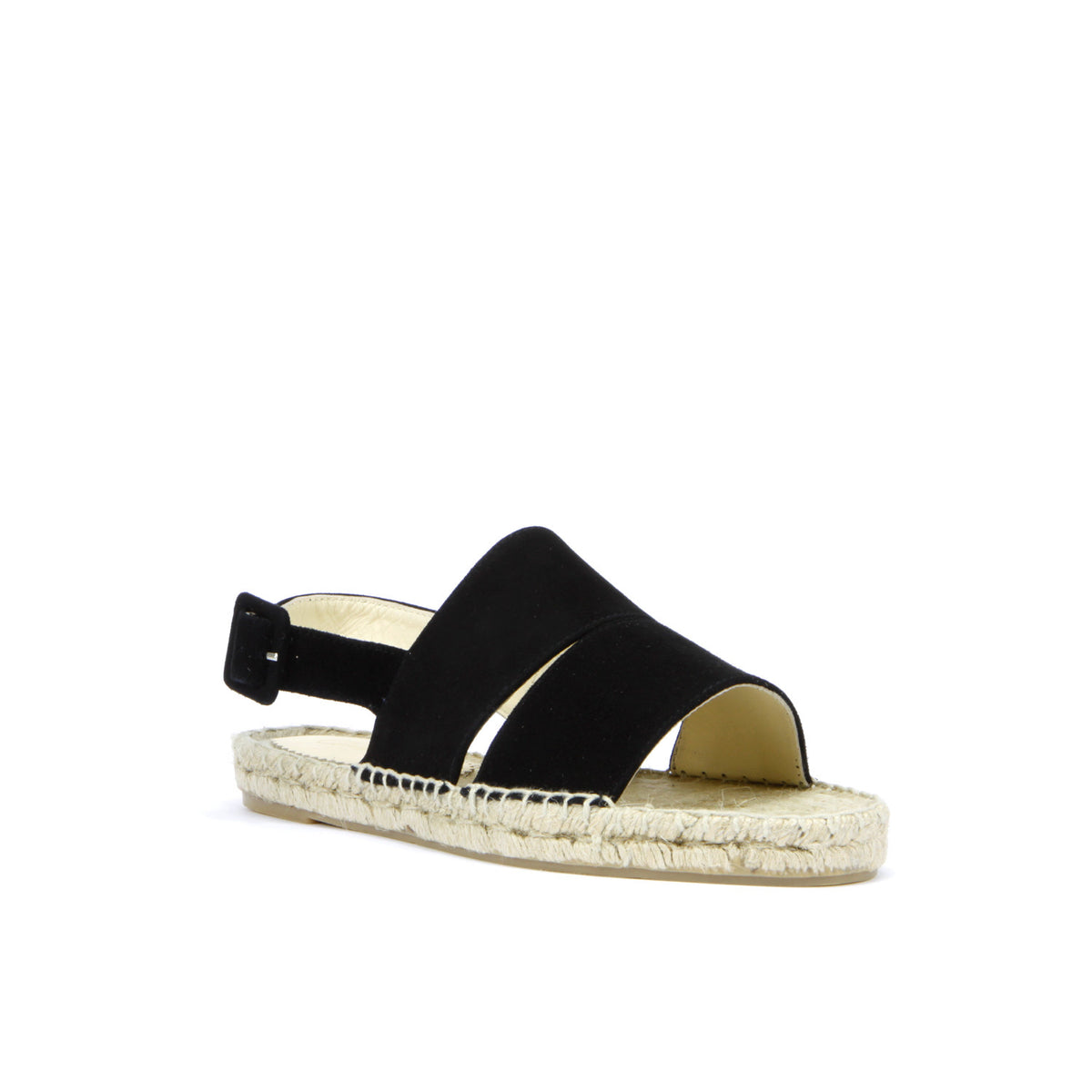 Lara Espadrille in Black Suede